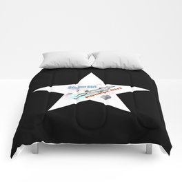 Rocket Girl with Star Comforters