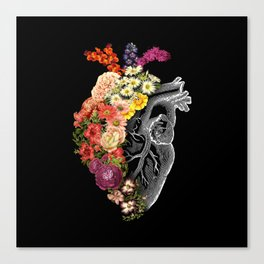 Flower Heart Spring Canvas Print