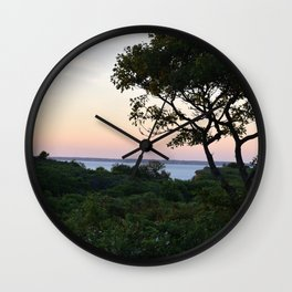 When the Night Sky Touches the Ocean Wall Clock