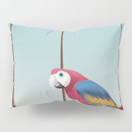 Parrott and Palms Pillow Sham