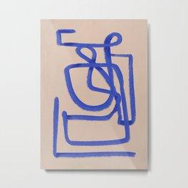 A blue eternal labyrinth Metal Print