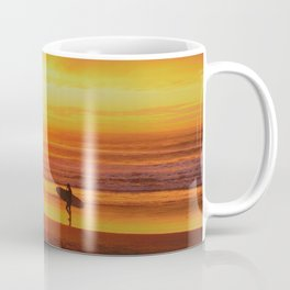 The Love Between a Guy and His Surf Board by Reay of Light Coffee Mug
