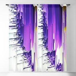 color splash purple indigo white yellow black abstract digital painting Blackout Curtain