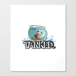 Aquarium Tanked Fishbowl Marine Museum Animal Gift Canvas Print