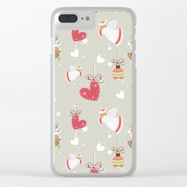 Christmas Elements Design Pattern 2 Clear iPhone Case