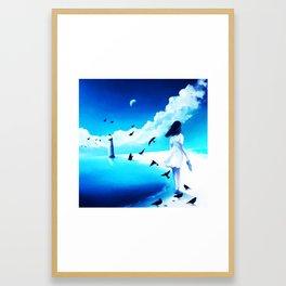 Lighthouse At The Sea Framed Art Print