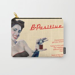 """""""B-Positive"""" - The Playful Pinup - Vampire Parody Pinup Girl Ad by Maxwell H. Johnson Carry-All Pouch"""