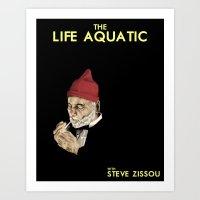 zissou Art Prints featuring Zissou by Bryan Hernandez