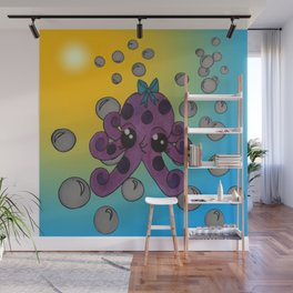 bubbles under the sea Wall Mural