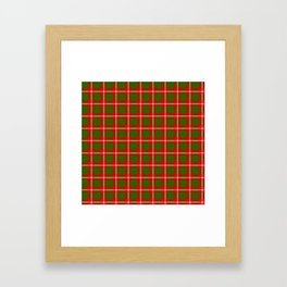 Tartan Style Green and Red Plaid Framed Art Print