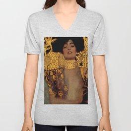 """Gustav Klimt """"Judith I"""", 1901 Unisex V-Neck"""
