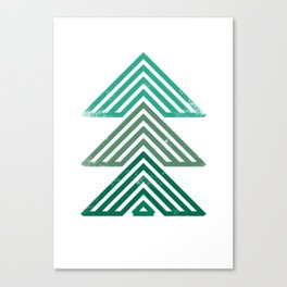 Mountain trees vintage Canvas Print