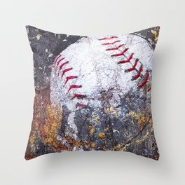 Baseball Art 5 Throw Pillow