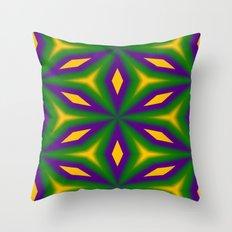 Mardi Gras Star 3598 Throw Pillow