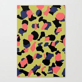 Yellow Camo Canvas Print