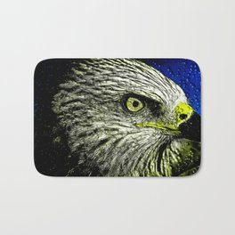 Golden Eagle Head Bath Mat