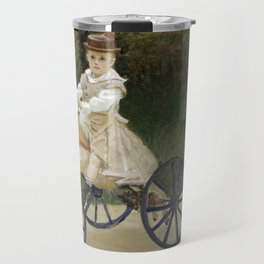 Jean Monet on his Hobby Horse 1872 by Claude Monet Travel Mug
