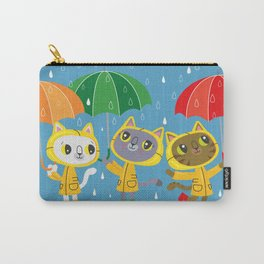 Rainy Day Kitty Cats Carry-All Pouch