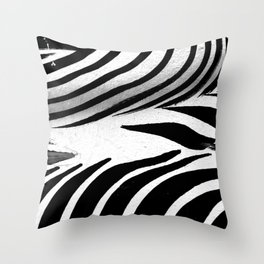 Heart of Zebra Throw Pillow