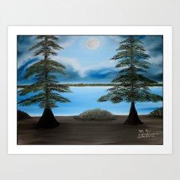 Moonlight on the Trace Art Print