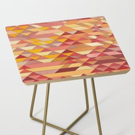 Triangle Pattern no.4 Warm Colors Red and Yellow Side Table