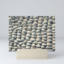 White Pebble Mini Art Print