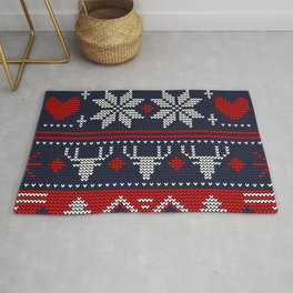 knitted pattern Rug