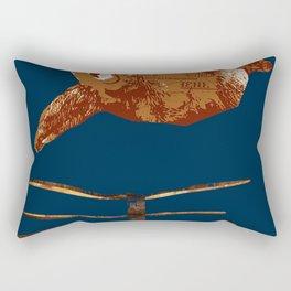 flaying bear Rectangular Pillow