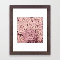 Some people grumble - Pink rose pattern- roses Framed Art Print