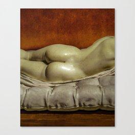Woman on Bed Sensual Scene Canvas Print