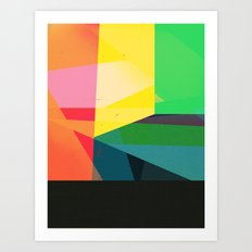 Colors with Black Art Print