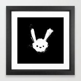 minima - splatter rabbit  Framed Art Print