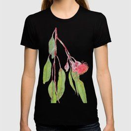 Flowering Silver Princess Eucalyptus Watercolour T-shirt