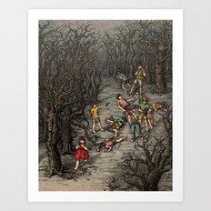 The girl Piper Art Print