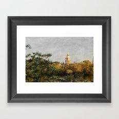 Notre Dame Across the Lake Framed Art Print