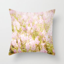 Summer Pink Throw Pillow
