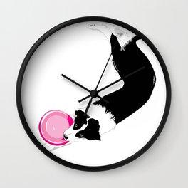 Disc Dog - Border Collie Wall Clock