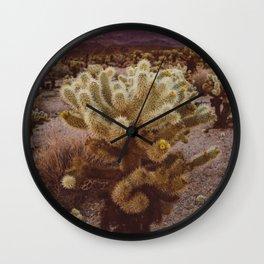 Cholla Cactus Garden VI Wall Clock
