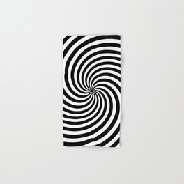Black And White Op Art Spiral Hand & Bath Towel