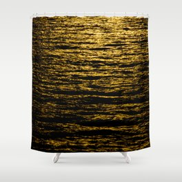 The Goldsoundwaves 2 Shower Curtain