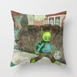 Grood's Walk Home Throw Pillow
