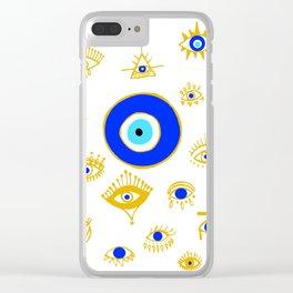 evil eye Clear iPhone Case