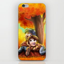 Tenderness in autumn iPhone Skin