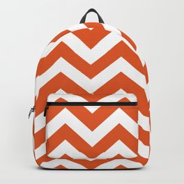 Flame - orange color - Zigzag Chevron Pattern Backpack