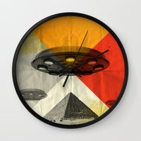 return Wall Clocks featuring the return by Vin Zzep