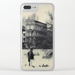 Winter's Coming Clear iPhone Case