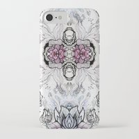 duvet cover iPhone & iPod Cases featuring Flower Duvet Cover by Tintedfaint