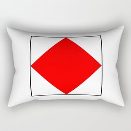 International maritime signal flag sea alphabet collection letter f Rectangular Pillow