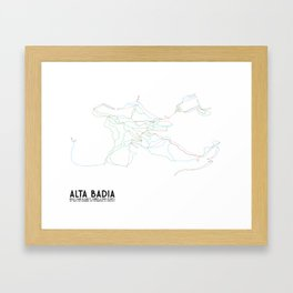 Alta Badia, ITA - NA (Unlabeled) - Minimalist Trail Art Framed Art Print