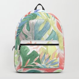 Lovely Fairy Tale For Two Flamingo Watercolor Illustration Backpack